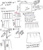 TUTORIAL: make a pleated skirt by YinYuHua