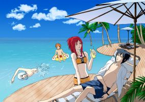 taka's summer vacation by iruko1120