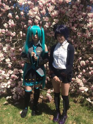 Miku + Ciel phantomhive  cosplay by Jess457