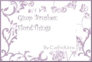 Gimp Brushes: Floral Things by coffinkittie