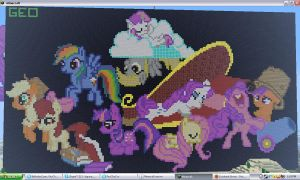 Minecraft pony pixelart by VixieTigraraliv
