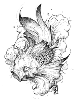 tattoo : koi ichi by fydbac