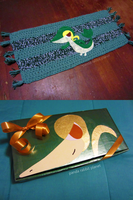 Snivy themed rug and wrapping by Rainbowbubbles