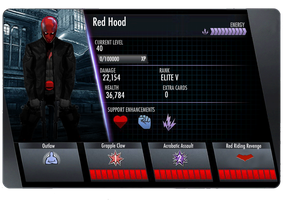 Red Hood Injustice Card (Back) by edrayed