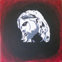 Kurt Cobain canvas by PunkAsFcuk82