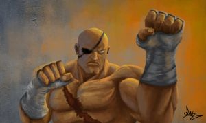Sagat by mykmykmyk