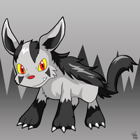 Chibi Mightyena by raizy