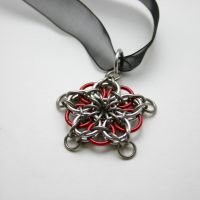 Red Celtic Star Pendant by Utopia-Armoury