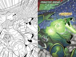 Green Lantern animated  book 5 page 3 inks-color by DarioBrizuelaArtwork