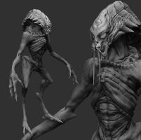 WIP - Alienmonster-wip by zerojs