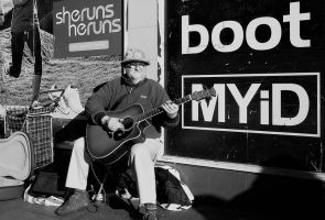 Busking in the Sun by sags