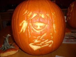Black Butler Undertaker Pumpkin -After Carving 1 by ajsachs00