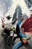 The Man of Steel vs. The Dark Knight by JZINGERMAN