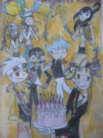 Soul Eater birthday card by EnvitChan