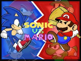 Sonic Vs. Mario: The Melee. by Segavenom