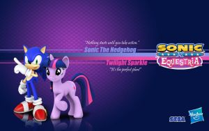 Sonic X Equestria: Sonic and Twilight by Fuzon-S