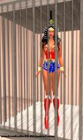 Wonder Woman In Hypno Cage by The-Mind-Controller