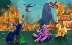 Fall of Ponyville by michal4269