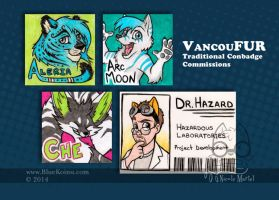 VancouFUR2014 Traditional Conbadges by bluekoinu