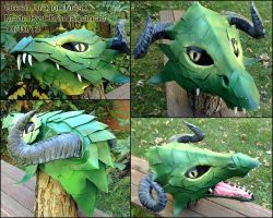 Green Dragon Mask by Chromamancer