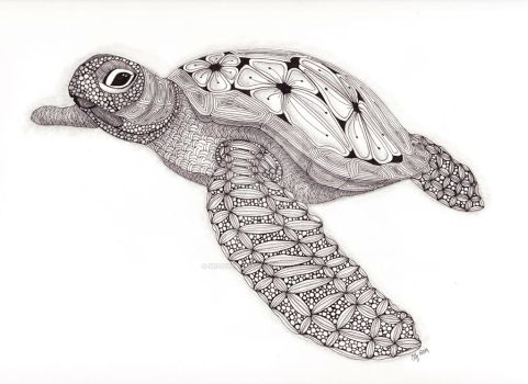 Tangled Sea Turtle by scootergirl762