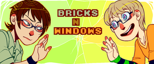 Bricks n Windows - Webcomic Banner by Krooked-Glasses