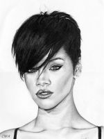 Rihanna by ChrisWoottonArt