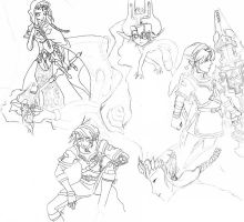 Zelda Sketch Dump by Zeruda