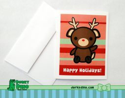 Reindeer Greeting Card by brandimillerart