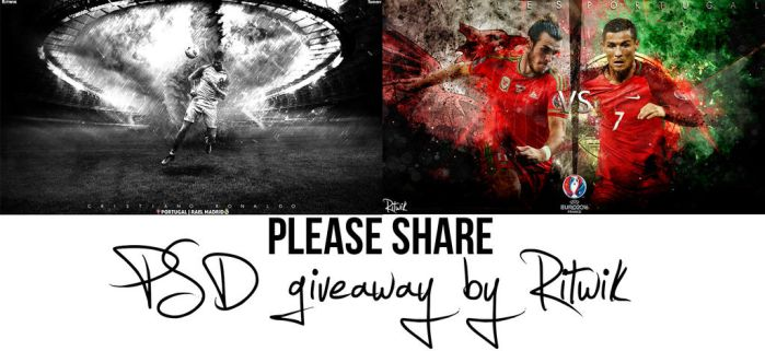 PSD Giveaway :D by RitwikBasakGraphics