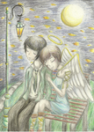 Fireflies and the Guardian Angel by FizzyBubbles