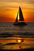 Mindil Beach sunset sail 1 by wildplaces