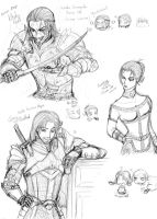 DAO: My Original Characters Part 2 by Devileve