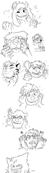 FACIAL TF DUMP by Fighting-Wolf-Fist