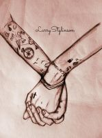 Larry Holding hands by quicksketch-sp