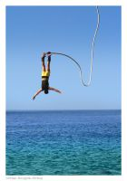 Bungee Diving in Crete by styliano