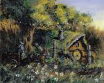 Alftered thrift store art: The Shire by csgirl