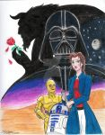 Star Wars: Beauty Amongst the Stars, Cover Art by moviedragon009v2