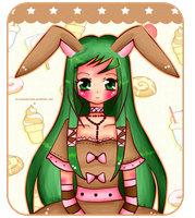 Mintto the bunny~ by bittersweetCake