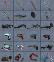 Weapons and Tools by deexie
