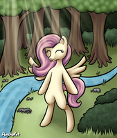 Fluttershy's Alone Time by PeachyKat