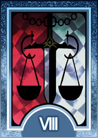 Persona 3/4 Tarot Card Deck HR - Justice Arcana by Enetirnel