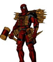 deadpool colorized by TOON75
