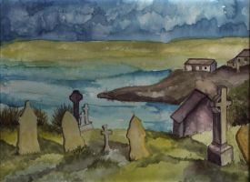 graveyard during a storm by othersescape
