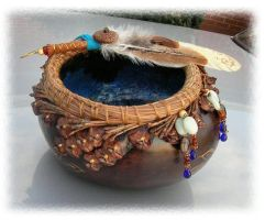 Faery Faith Gourd Bowl by ChaeyAhne