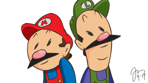 Mario and Luigi by RandomRails