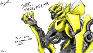 Bumblebee Test Sketch by StormTitan