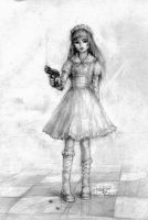Girl with gun by Limfoman