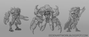 Crustacean Monster Concepts by Eedenartwork