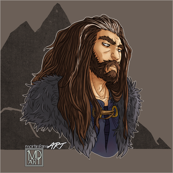 Thorin Oakenshield by mortinfamiART